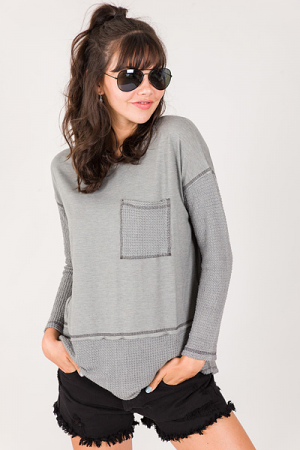 Contrast Knit Thermal