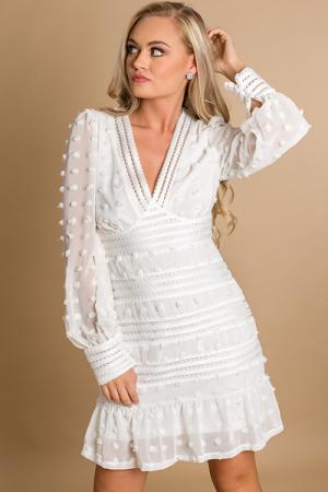 Clara Dress, Ivory