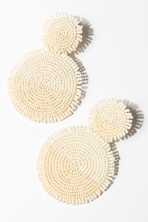 Tonal Beads Earring, Cream