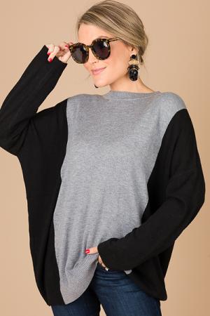 Black Sleeves Sweater