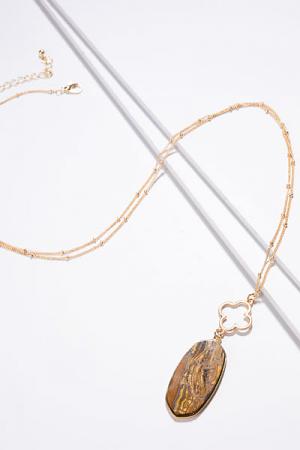 Clover Necklace, Tiger Eye