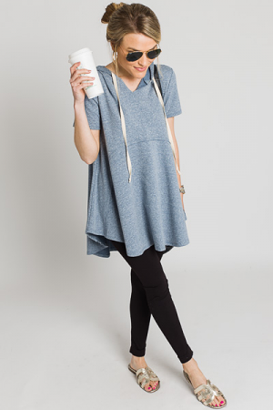 Hoodwink Tunic, Blue