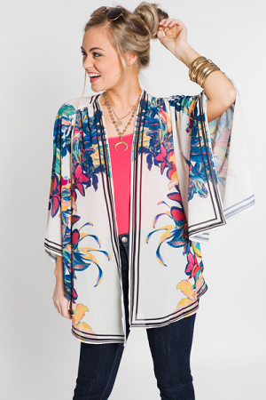 Floral Hanky Kimono