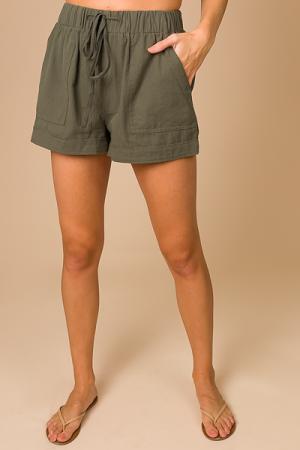 Pocket Shorts, Olive