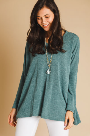 Knit Girl Tunic, Olive