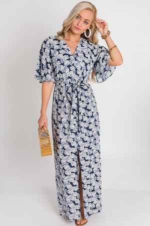 Palm Vacation Maxi, Navy