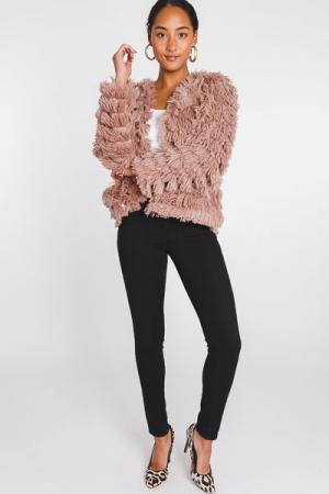 Layered Fur Jacket, Mocha