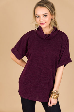 Ashley Cowl Neck, Eggplant