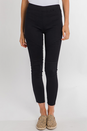 Pull On Moto Jeggings, Black