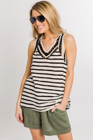 Sweater Striped Tank