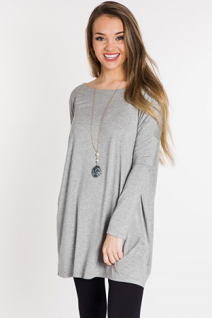 Piko Tunic Dress, H Grey