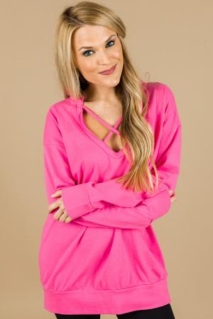 Spaghetti Sweatshirt, Pink