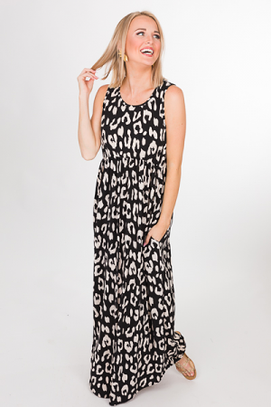 Slinky Cheetah Maxi, Black