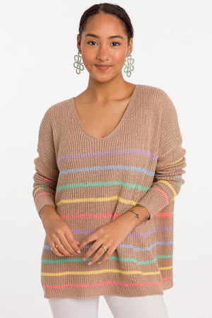 Mocha Rainbow Sweater