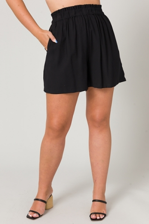 Kendra Solid Shorts, Black