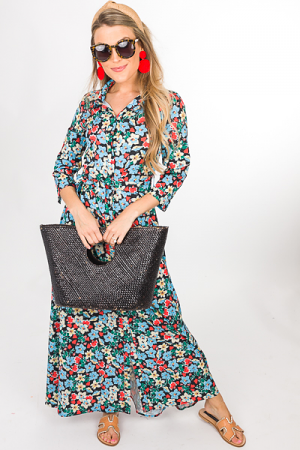 Belted Floral Maxi