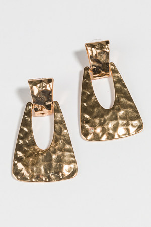 Hammered Gold Swing Earring