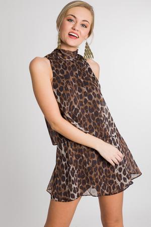 Leopard Tie Back Romper