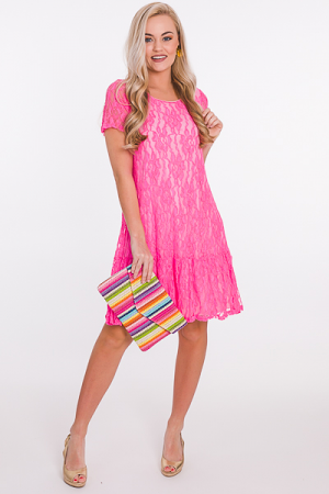 Lacy Grace Dress, Pink