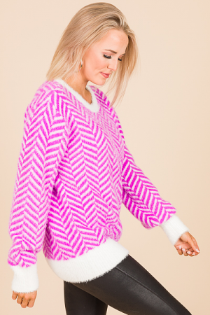 Zig Zag Sweater, Orchid