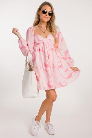 Sweetheart Retro Dress, Pink