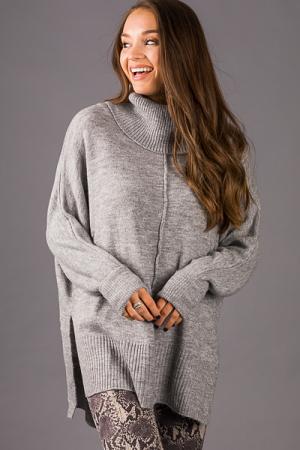 Pamela Oversize Cowl Sweater, Grey