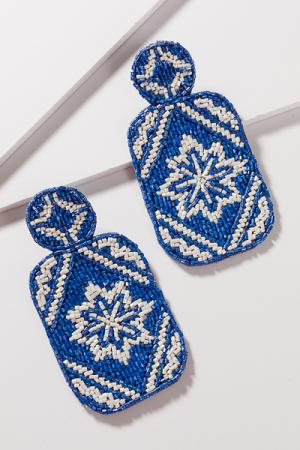 Beaded Bottles Earrings, Blue