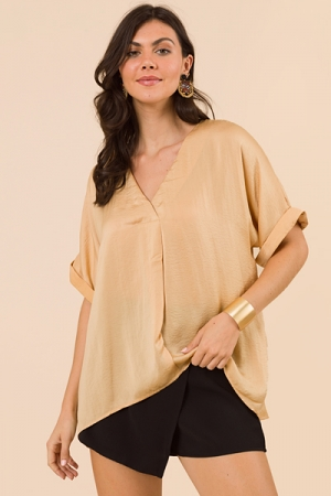 Amaze Me Silky Blouse, Taupe