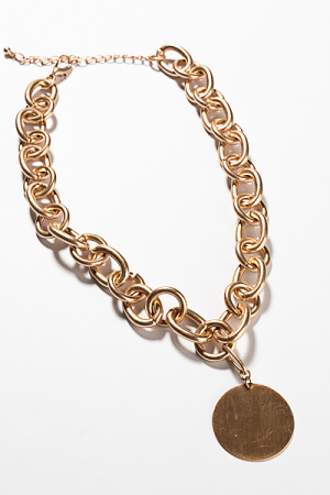 Essential Gold Chain with Disc