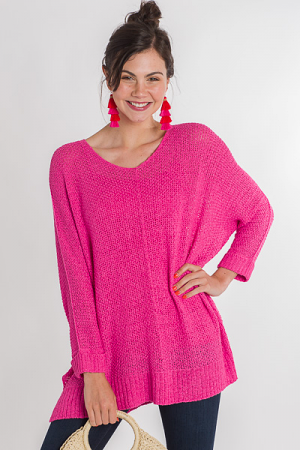 Long Weekend Pullover, Pink