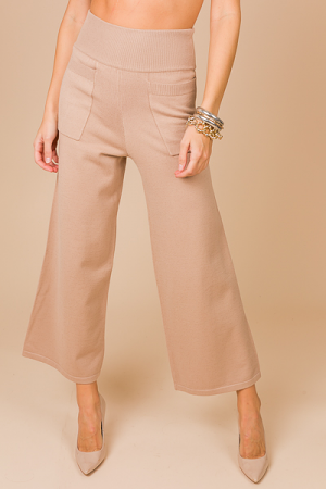Impeccable Sweater Knit Pant, Taupe