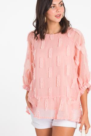 Puffed Layers Tunic, Blush