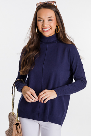 Caroline Turtleneck, Navy
