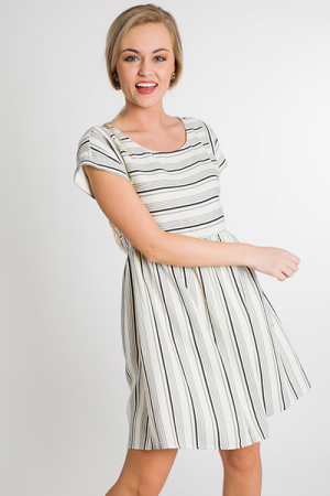 Multi & Mixed Striped Dress
