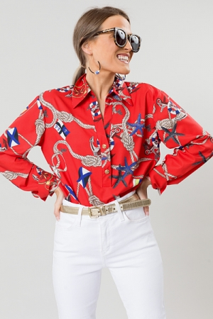 Sea Sailor Blouse, Red