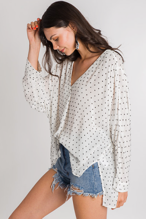 Textured Dots Blouse