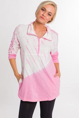 Tie Dye Pullover, Pink