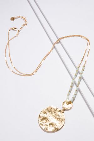 Mint Tribal Long Necklace