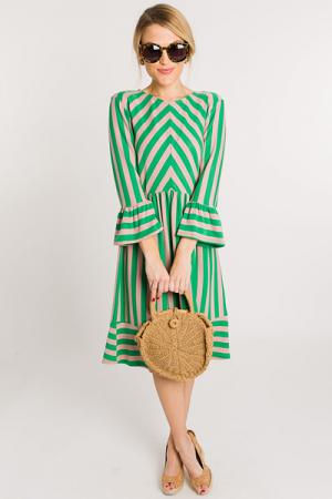 Green Screen Stripe Dress