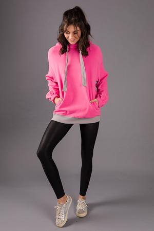 Fleece Hoodie, Hot Pink