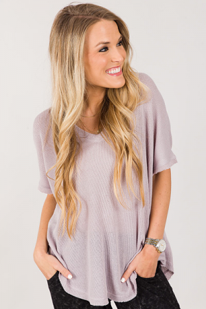 Simple Thermal Tee, Violet