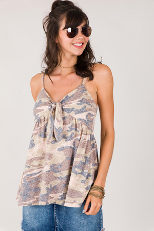 Knotted Camo Cami