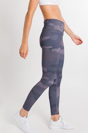 Grey Camo Workout Leggings