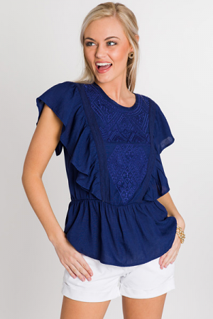 Summer Time Fine Top, Navy