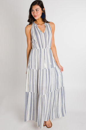 Cross the Line Tiered Maxi