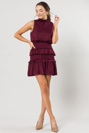Glass of Red Smock Dress, Wine
