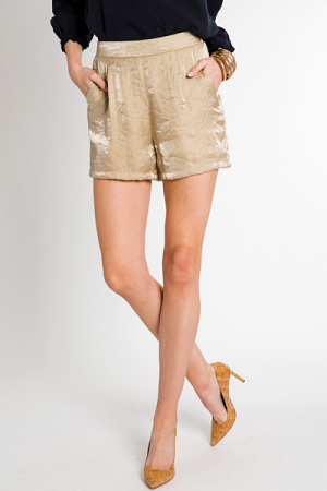 Get Your Shine On Shorts, Gold