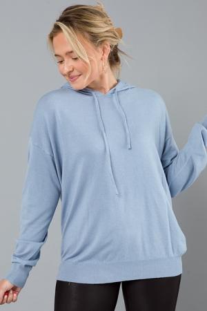 Sweater Hoodie, Dusty Blue