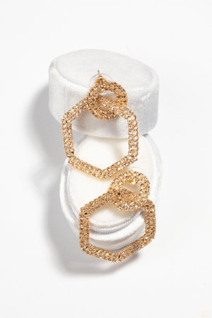Hex Pave Earring