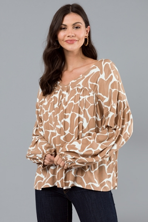 Cross Country Top, Taupe
